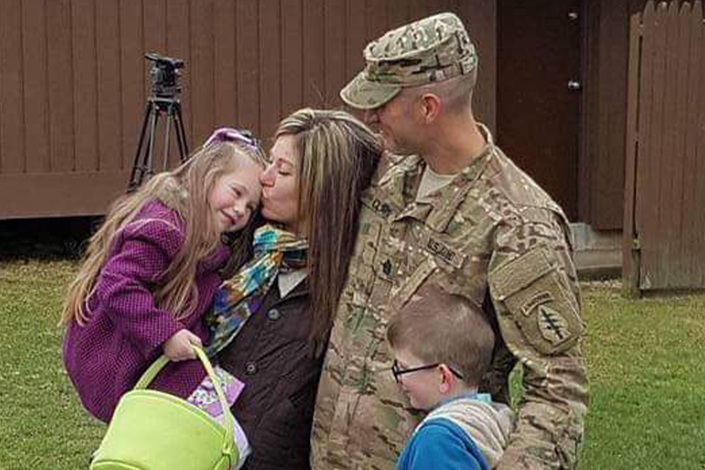 military family husband wife and two kids